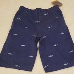 Boys Bermuda Shark Shorts Adjustable Waist Size 7x